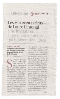 Claire Devarrieux, Libération, 22/11/2012