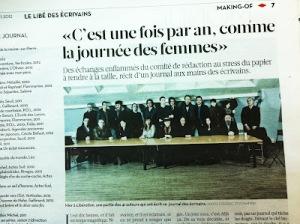 Libé des écrivains, 15 mars 2012