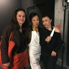 avec Nathalie Lacroix & Ryoko Sekiguchi (cuisinant)
