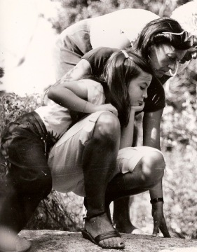 Ma mère, Nicole Lombard-Limongi et moi, à Corbara.